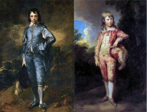 Thomas Gainsborough, le Garçon Bleu, à gauche, et le Garçon Rose, à droite