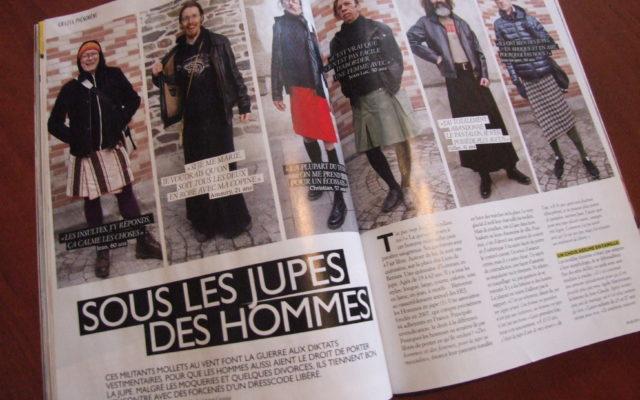 Article Grazia sur les hommes en jupe