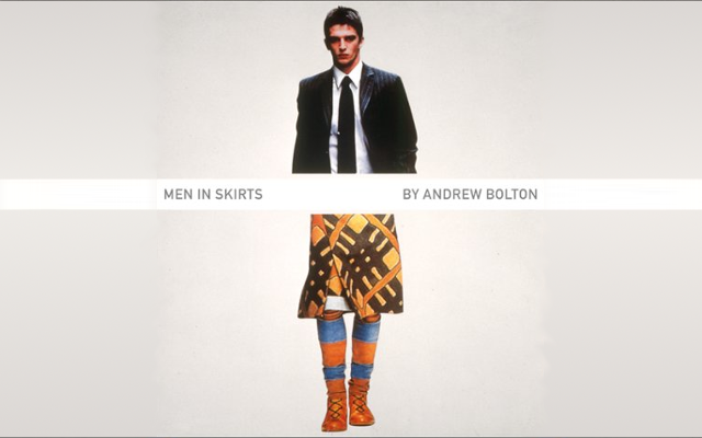 "Couverture du livre ""Men in Skirts"" d'Andrew Bolton"