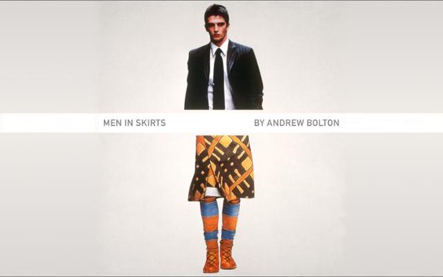"Couverture du livre ""Men in Skirts"" d'Andrew Bolton"