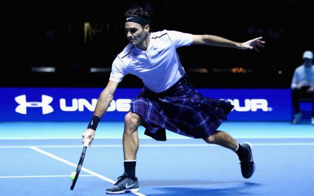 Roger Federer joue en kilt